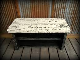 black bench with shoe storage bench decoration