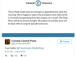 noah feel better trevor noah misses daily show due to emergency surgery 2oceansvibe