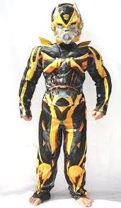 Transformer Halloween Costumes Bumblebee Transformer Costumes Men Women Kids Parties