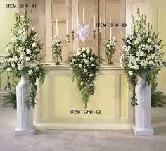 wedding altar flowers attractive church flowers for wedding 1000 ideas about altar