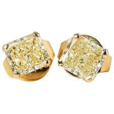 diamond stud earrings on sale graff diamonds yellow gold 2 66 carat yellow diamond stud earrings