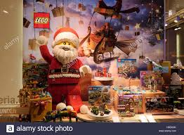 lego at xmas display in store window santa claus father christmas