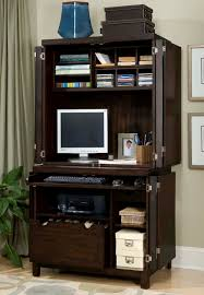 Pine Computer Armoire by Furniture Office Chairs Wooden Storage Computer Armoire Open
