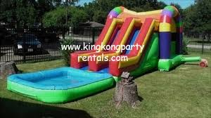 moonwalks houston kingkongpartyrentals most popular houston junior waterslide