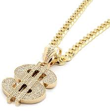 mens gold necklace chains images Mens gold iced out money sign mula pendant hip hop 30 inch cuban jpg