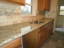stone backsplash for kitchen bathroom double hung window with eco stone countertops and wooden