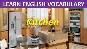 kitchen furniture vocabulary singular picture concept educational