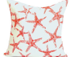 Seashore Decorative Pillows Starfish Pillow Etsy