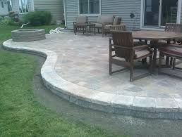 Concrete Patio With Pavers Concrete Paver Patio Ideas Home Design Border Calladoc Us