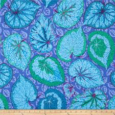 Blue Shades Kaffe Fassett Collective Big Leaf Blue Discount Designer Fabric