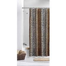 Walmart Mainstays Curtains Mainstays Ombre Cheetah Shower Curtain Black Brown Walmart Com