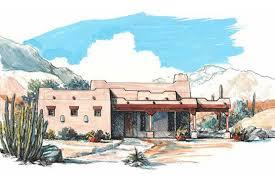 Southwest Style Home Plans Adobe Southwestern Style House Plan 3 Beds 2 00 Baths 1700 Sq