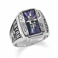 highschool class ring men s siladium crestline legacy high school class ring by