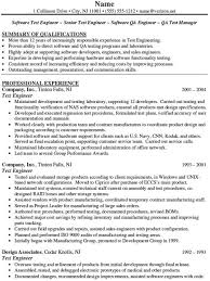 Sqa Resume Sample Software Tester Cover Letter Principal Software Tester Cover