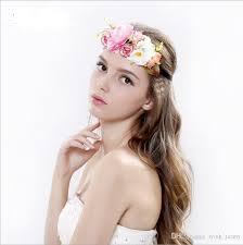 headband flower 2018 new women wedding flower wreath headband kids party