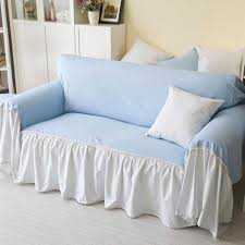Modern Sofa Slipcovers Simple Countryside Sofa Slipcover Ideas In Plain Blue And White
