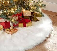 white tree skirt rustic luxe linen velvet christmas tree skirt pottery barn