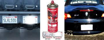 Photoblocker Spray Prevent Red Light Camera Traffic Tickets The