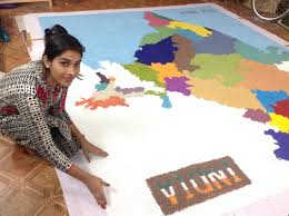 Varanasi India Map by Largest Indian Map Created With Glass Pearls U2013 World Records India
