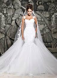 mermaid trumpet wedding dress 2016 mermaid trumpet tulle lace wedding dress sweetheart straps