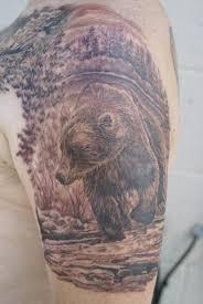 black ink rhino tattoo design
