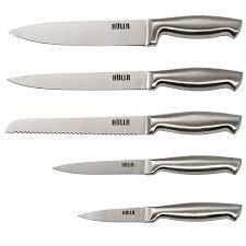amazon kitchen knives amazon com hullr stainless steel kitchen knife set with acrylic