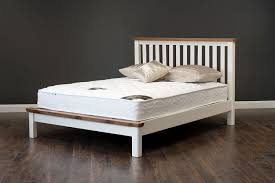 4ft bed small double bed 4ft cream oak