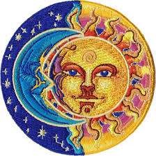 trippy sun and moon clipart clipground
