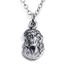 crown of thorns necklace 925 sterling silver jesus with crown of thorns pendant