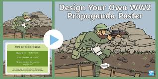 world war two design your own propaganda poster task setter