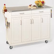 White Kitchen Cart Island Buy Stainless Steel Top Kitchen Cart Island In Black