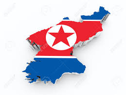 Korea Flag Image North Korea Flag On 3d Map Stock Photo Picture And Royalty Free