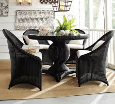 Black Round Pedestal Dining Table And Chairs Dining Dining Tables - Round dining table with wicker chairs
