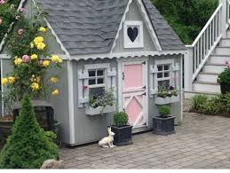 Backyard Play House A Backyard Playhouse Full Of Color And Fun From A Kit Made By A