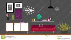 home interior vector living room home interior vector illustration stock vector image