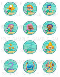 5 best images of bubble guppies cupcakes printables bubble