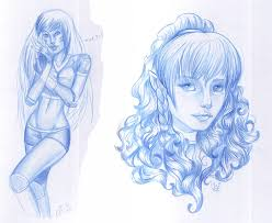blue pencil sketches by toolkitten on deviantart