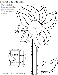 flower holding bible cutout craft for church kids