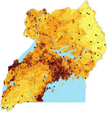 Map Of Uganda A Predictive Risk Map For The Nematode Parasite Mansonella
