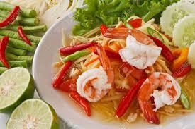 cuisine thailandaise traditionnelle salade de papaye verte cuisine thaïlandaise traditionnelle et
