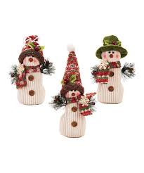loving this plush snowman ornament set of 3 on zulily