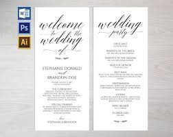 wedding program templates rustic wedding program template wpc1 invitation templates