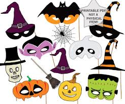 halloween photo booth props printable pdf halloween party photo booth props halloween masks