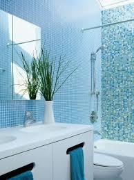 Blue Glass Tile Bathroom Blue Tile Bathroom Houzz