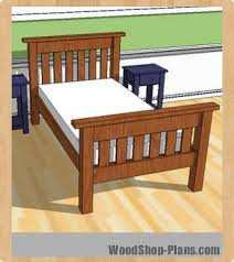 twin bed frame wood plans home design ideas