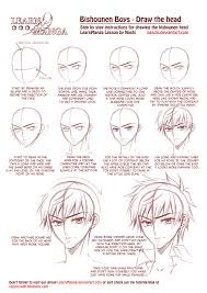 learn manga bishounen boys draw the head by naschi on deviantart