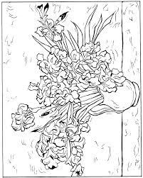 coloring page for van van gogh sunflowers coloring page van coloring pages van gogh