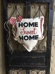 Baseball Home Decor Baseball Door Hanger Baseball Wreath Baseball Decor Home