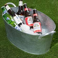 Oval Party Beverage Tub by Tablecraft Gt2313 Galvanized Steel Oval Beverage Tub 23