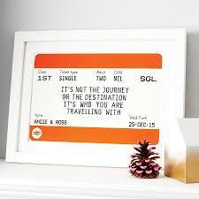 personalised train ticket print by of life u0026 lemons